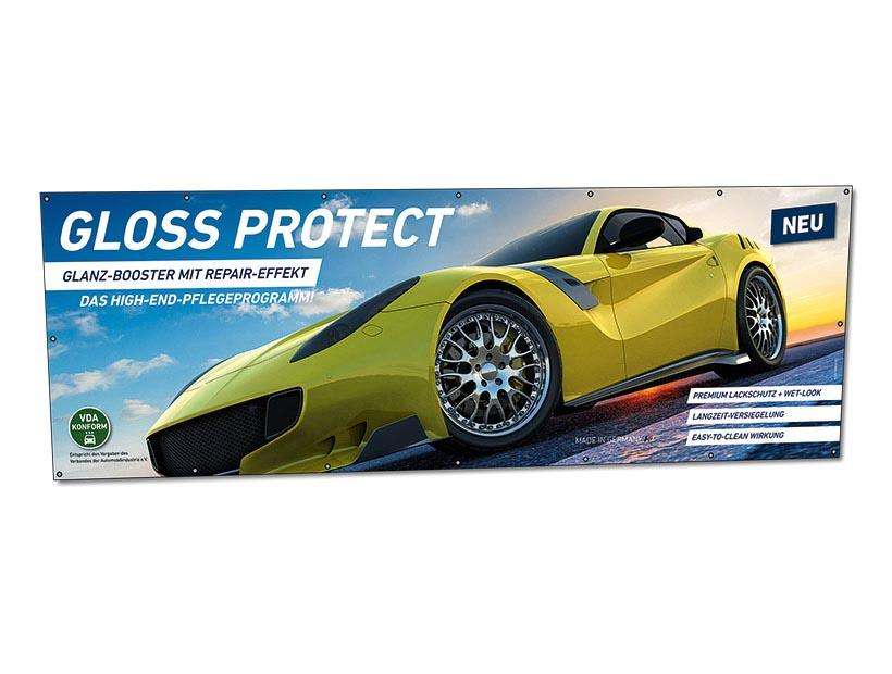 GlossProtect Werbebanner 300 x 100 cm